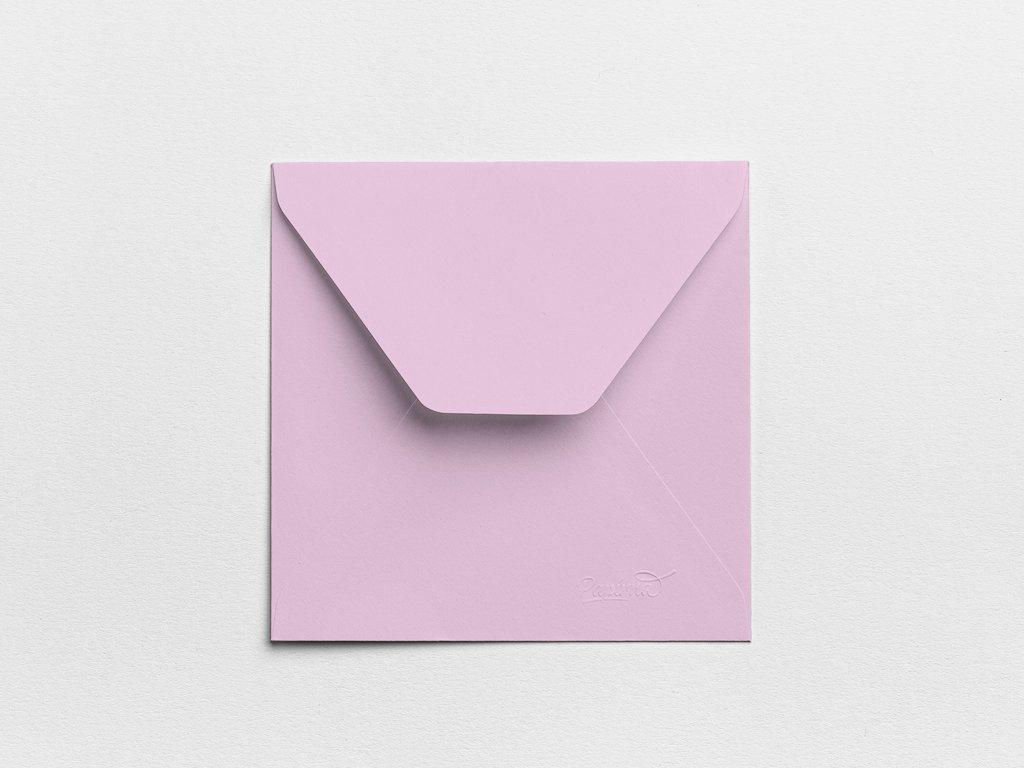 Obálky Čtverec šeříkové (3ks)