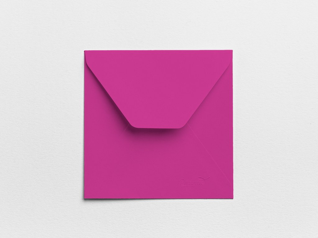 Obálky Čtverec nachové (3ks)