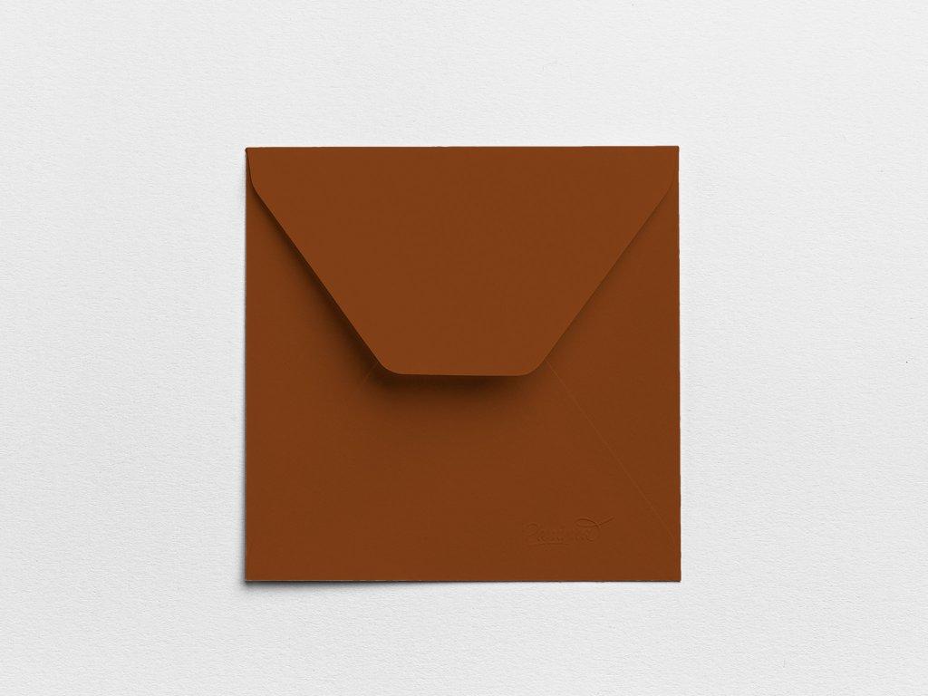 Obálky Čtverec čokoládové (3ks)