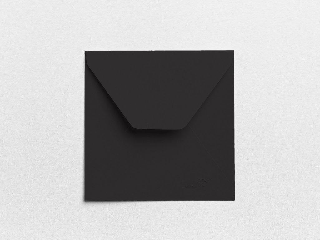 Obálky Čtverec černé (3ks)