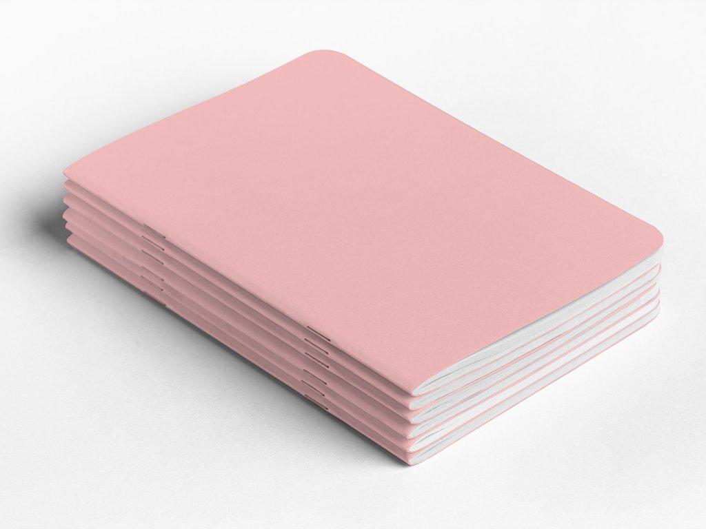 Sešity A5 růžové