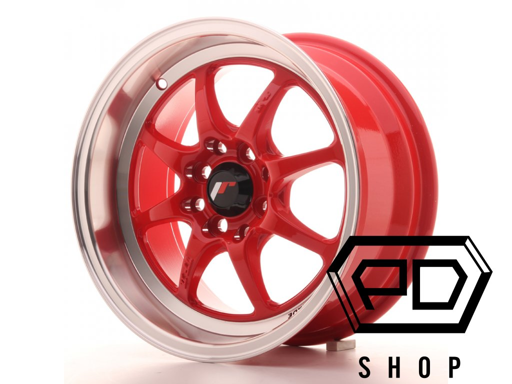JR Wheels TF2 15x7,5 ET30 4x100/114 Red (ET 30, Rozteč 4x114,3)