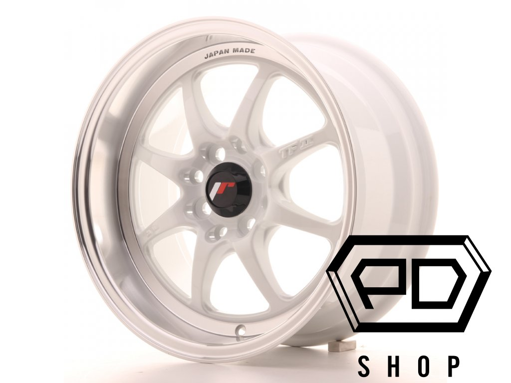 JR Wheels TF2 15x7,5 ET30 4x100/114 White (ET 30, Rozteč 4x114,3)