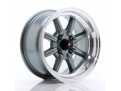 JR Wheels JR19 14x7 ET0 4x100 Gun Metal w/Machined Lip