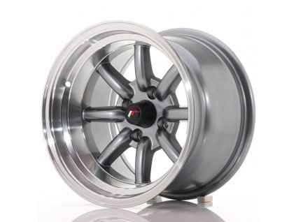 JR Wheels JR19 14x9 ET-25 4x100 Gun Metal w/Machined Lip