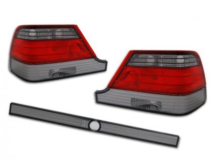 mercedes s klasa w140 clearglass red black ltme08