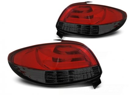 led tailights redsmoke pegeuot 206 hatchback