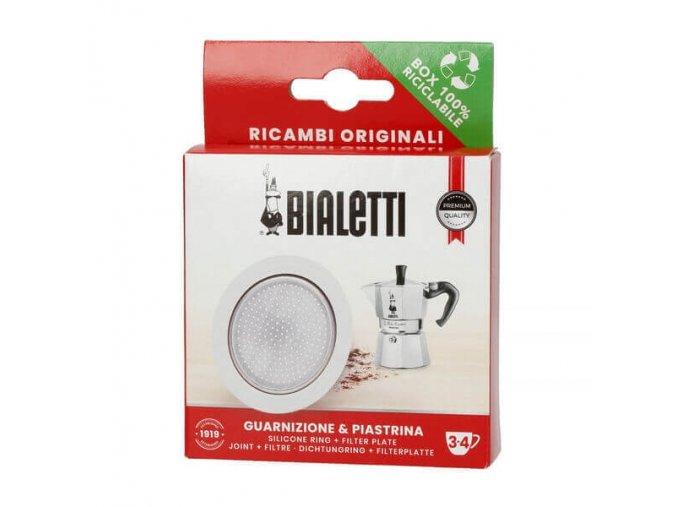 Bialetti těsnění a filtr na 3 a 4 porce moka
