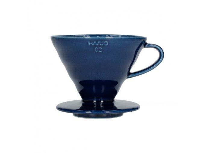 1746 dripper hario v60 vdc 02 ibu uex keramicky velikost 2 modry indigo 1