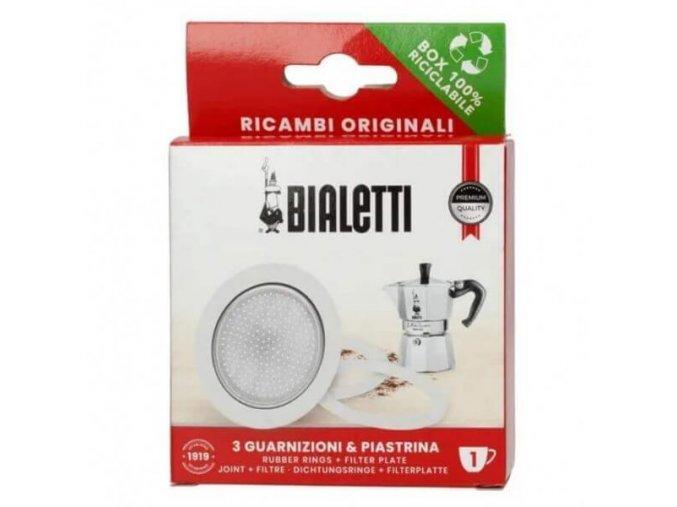 Bialetti těsnění a filtr na 1 porce moka