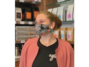 Maskáčová rouška dámská