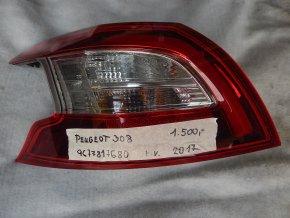 Světlomet levý, zadní Peugeot 308 č. 9677817680