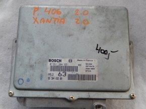 Řídící jednotka motoru 2.0 i Peugeot 406, Citroen Xantia č. 9630403280, 0261204651