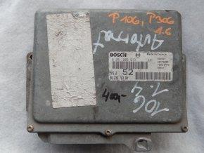 Řídící jednotka motoru 1.6 i Peugeot 106 č. 9623676380, 0261203913
