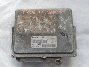 Řídící jednotka motoru 1.1 i Peugeot 106, Citroen Saxo č. 9631528780, 0261204788