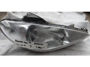 Světlomet pravý přední, Peugeot 206 č. 89002770