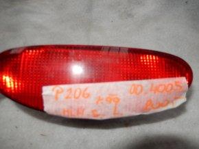Mlhové světlo levé zadní Peugeot 206