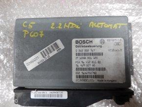 Řídící jednotka převodovky-automat 2.2 HDi Citroen C5, Peugeot 607 č. 0260002767, č. 9641281180