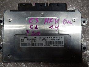 Řídící jednotka motoru 1.4 i Citroen C2, C3, Peugeot 207  č. J34P č.  21585900-1A0, č. SW9661700480