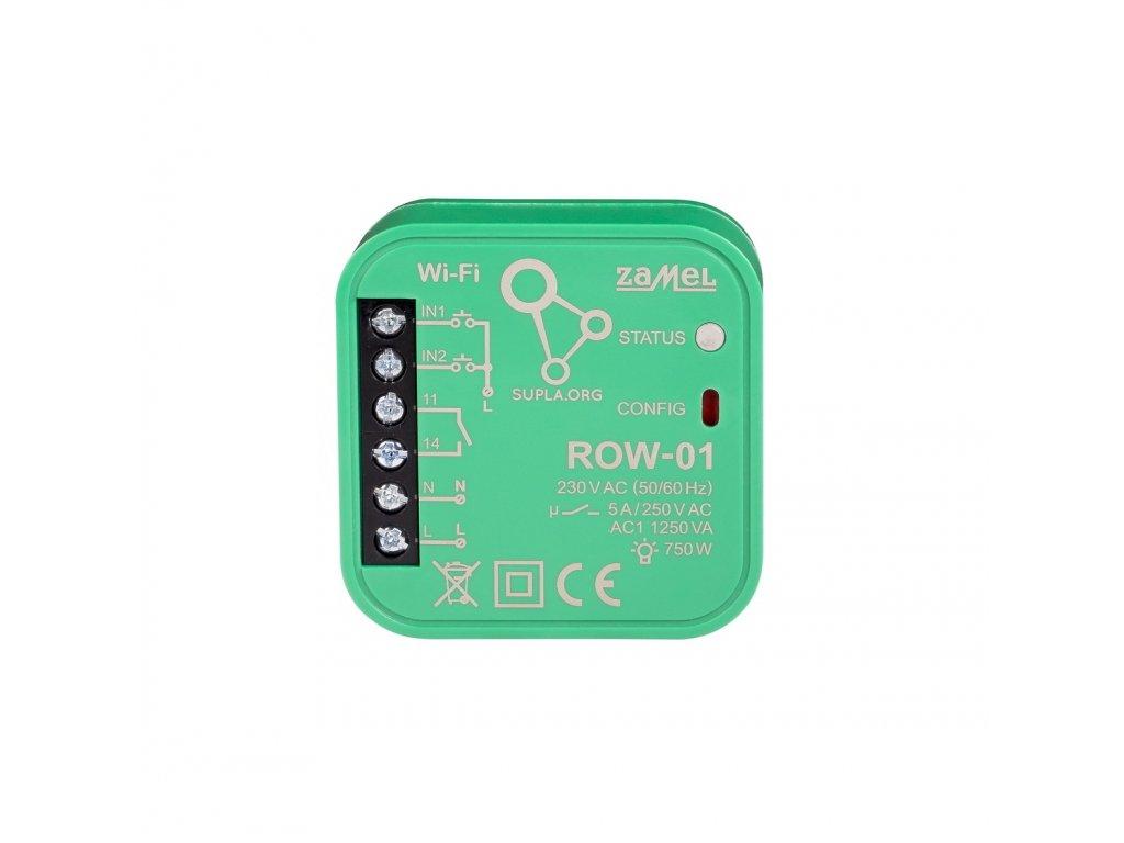 Wi-Fi spínací 1x5A modul světel a el. zásuvek , 2 vstupy, SUPLA, ROW-01