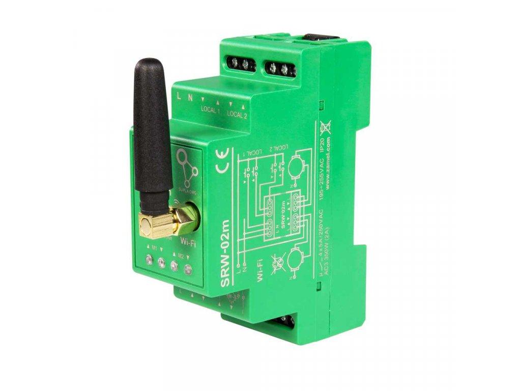 Wi-Fi modul pro ovládání 2 rolet a žaluzií, SUPLA, SRW-02m