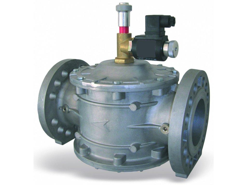 EVHNC /P - Havarijní plynový ventil, DN 65 ÷ DN 300, 600 kPa, NC, příruba