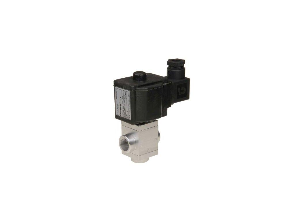 EVPT - třícestný elektromagnetický ventil pro ovládání nafty, olejů a kapalin, NC, 0 až 10 bar