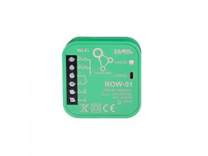 ROW-01 | Wi-Fi spínací 1x5 A modul světel a el. zásuvek, SUPLA, 2 vstupy