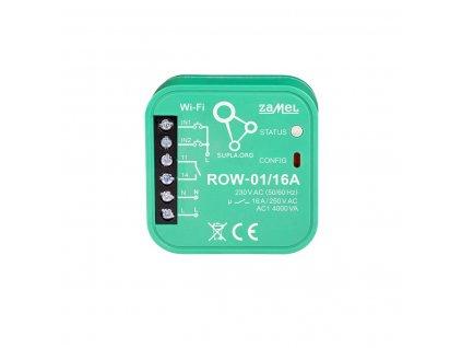 Wi-Fi 1x16A spínací modul světel a el. zásuvek , 2 vstupy, SUPLA, ROW-01/16A