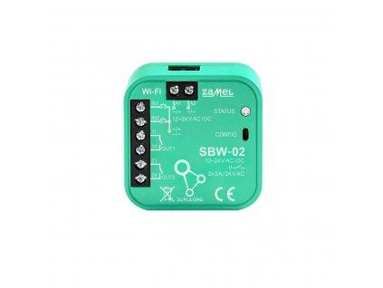 Wi-Fi ovládání až 2 garážových vrat nebo brány s indikací koncových poloh, SUPLA SBW-02