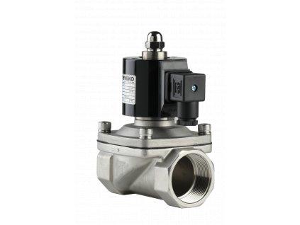 MVPE A /N | Nerezový elektromagnetický ventil na olej, naftu a jiné agresivní látky, 7 bar, VITON, NC