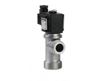 EVF | Dvoucestný elektromagnetický plynový ventil, rohový, DN 25, do 5 kPa, NC