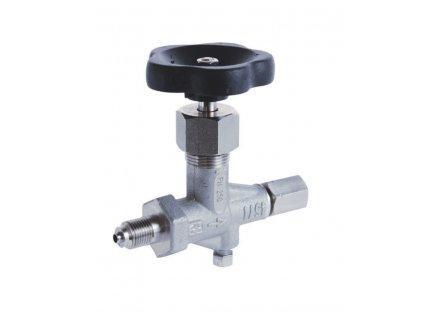DV | Dvoucestný uzavírací manometrový ventil na vodu, páru, vzduch a topné plyny, PN 630, DIN 16 270