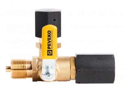 TK | Třícestný manometrový kohout zkušební na vodu, vzduch, topné plyny a kyslík, 40 bar, DIN 16 263