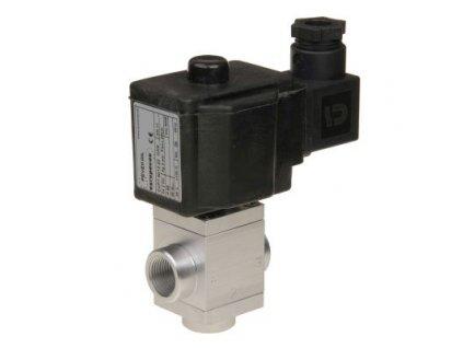 EVPT | Třícestný elektromagnetický ventil pro ovládání nafty, olejů a kapalin, 0 ÷ 10 bar, NC