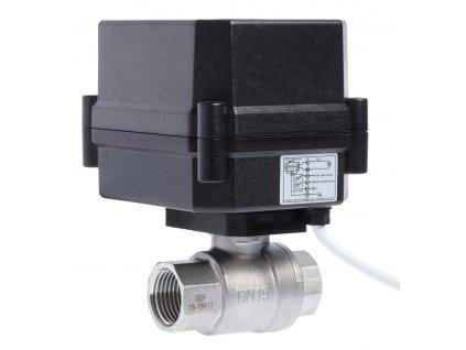 SKPE - Kulový kohout s elektropohonem, do 16 bar, NC, nerez, PTFE