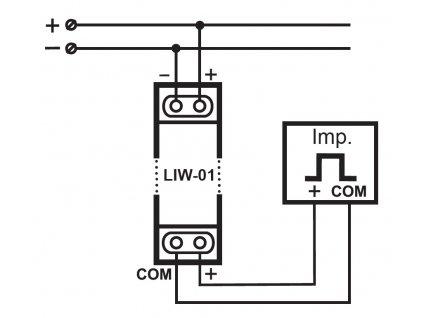LIW 01 - Snímač pro odečítání spotřeby energie, vody, plynu přes Wi-Fi a Internet