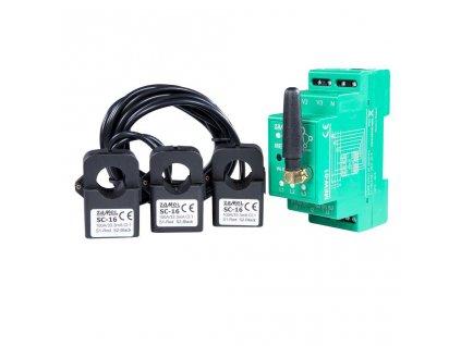 MEW-01 | Přímé měření spotřeby elektřiny s Wi-Fi a přístupem přes internet, 3 fáze, 100 A