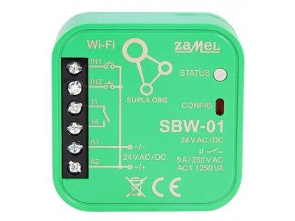 Wi-Fi ovládání 1 brány, vrat, branky,  2 vstupy pro indikací koncových poloh, SBW-01 SUPLA