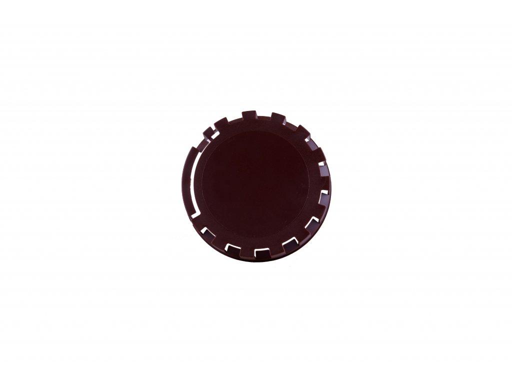 KEG víčko barva č.21 tmavě hnědá