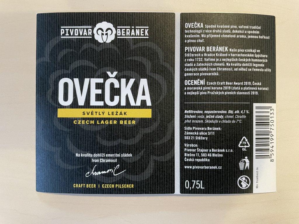 Etiketa Ovečka 1ks