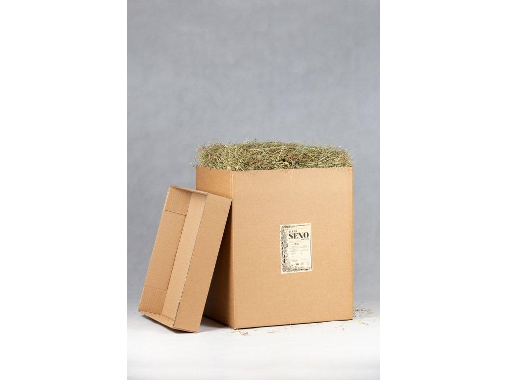 seno v krabici 7 kg otevrene