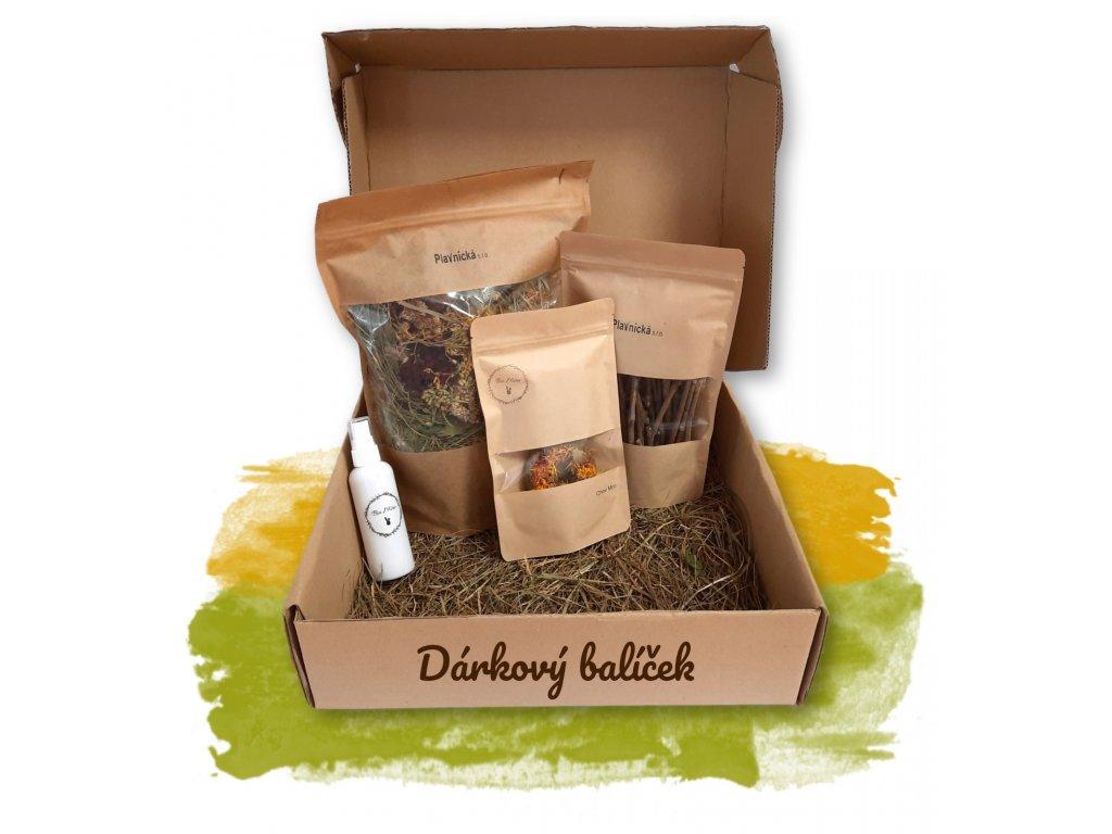 Dárkový balíček Plavnická rozkvetlá zahrada, bio repelent, větvičky vinné révy, rozkvetlé koláčky