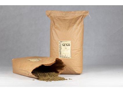 granulovane seno pytel 25 kg otevreny