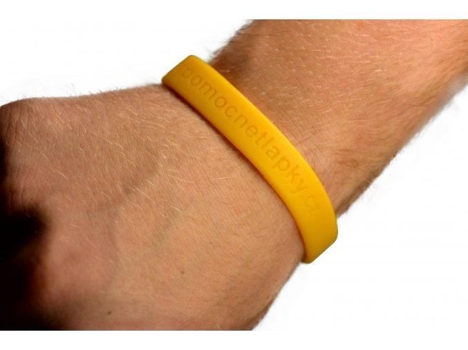 Žlutý silikonový náramek