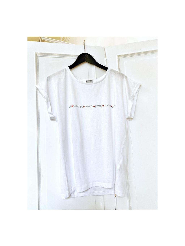 Bavlněné tričko LANGE, PONER