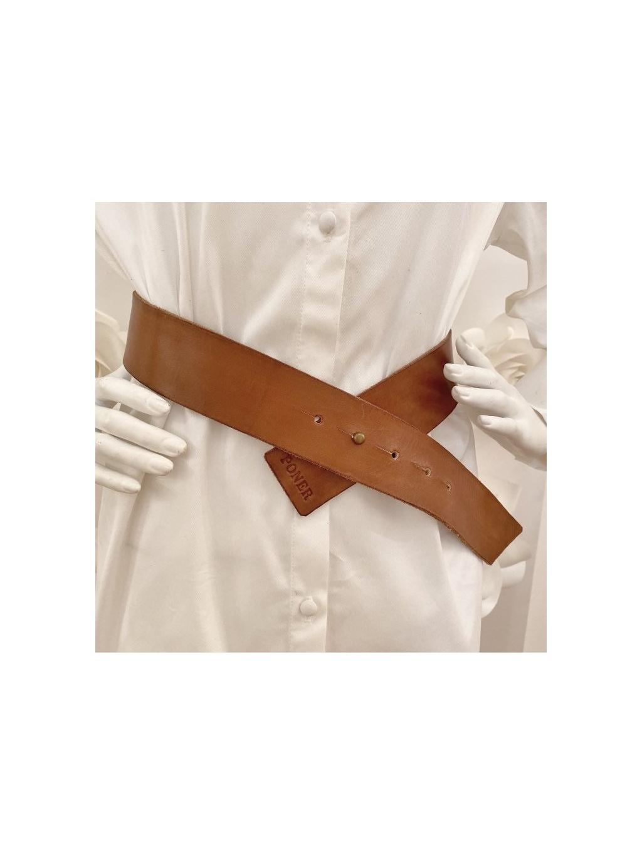 Kožený pásek BROWN SIMPLE, PONER