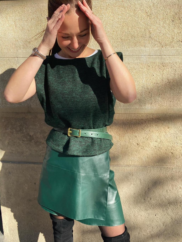 Koženková mini sukně GILIB, PONER