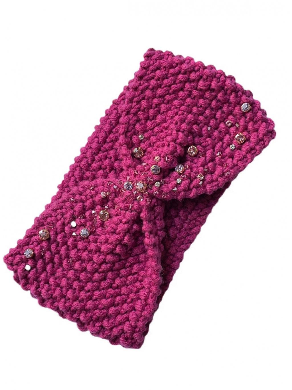 Pletená čelenka INERMIS - fialová, PONER