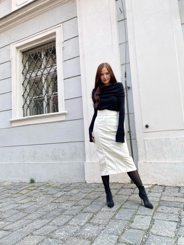 Koženková sukně MAYS, PONER